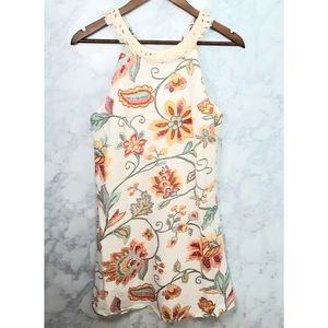 Dance and Marvel Floral Fringe Straps Short Dress